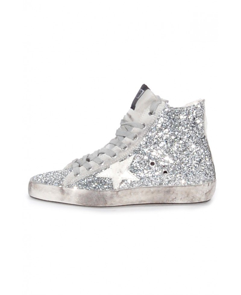 0cf8560158ad Lyst - Golden Goose Deluxe Brand Francy Glitter High-Top Sneakers in ...