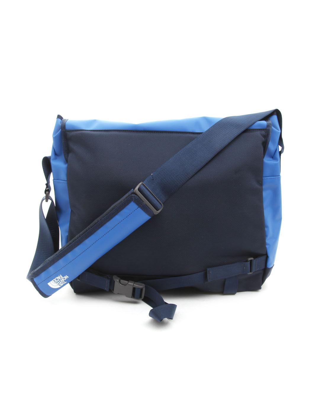 the north face base camp blue messenger bag m in blue for. Black Bedroom Furniture Sets. Home Design Ideas