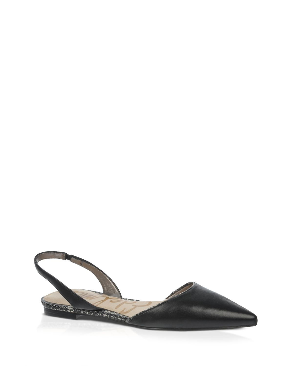 Sam Edelman Pointed Toe Slingback Flats Rory In Black Lyst