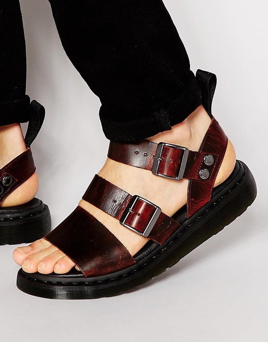 Dr Martens Gryphon Sandals In Black For Men Lyst
