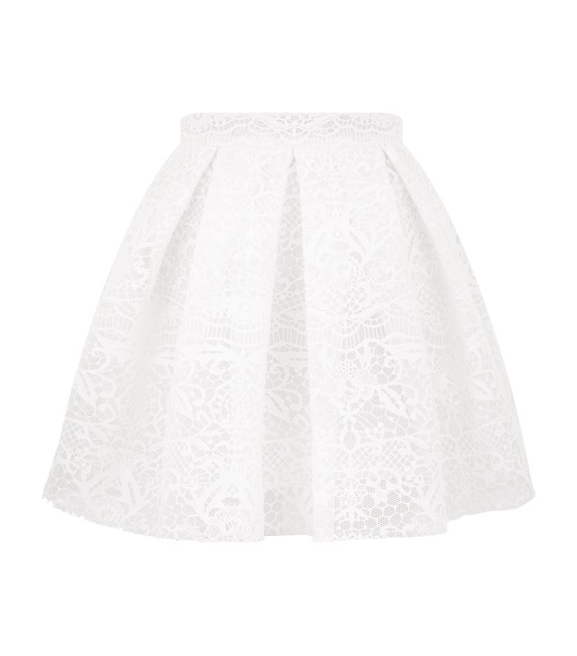 0cde2be697 Maje Jeko Guipure Lace Skirt in White - Lyst