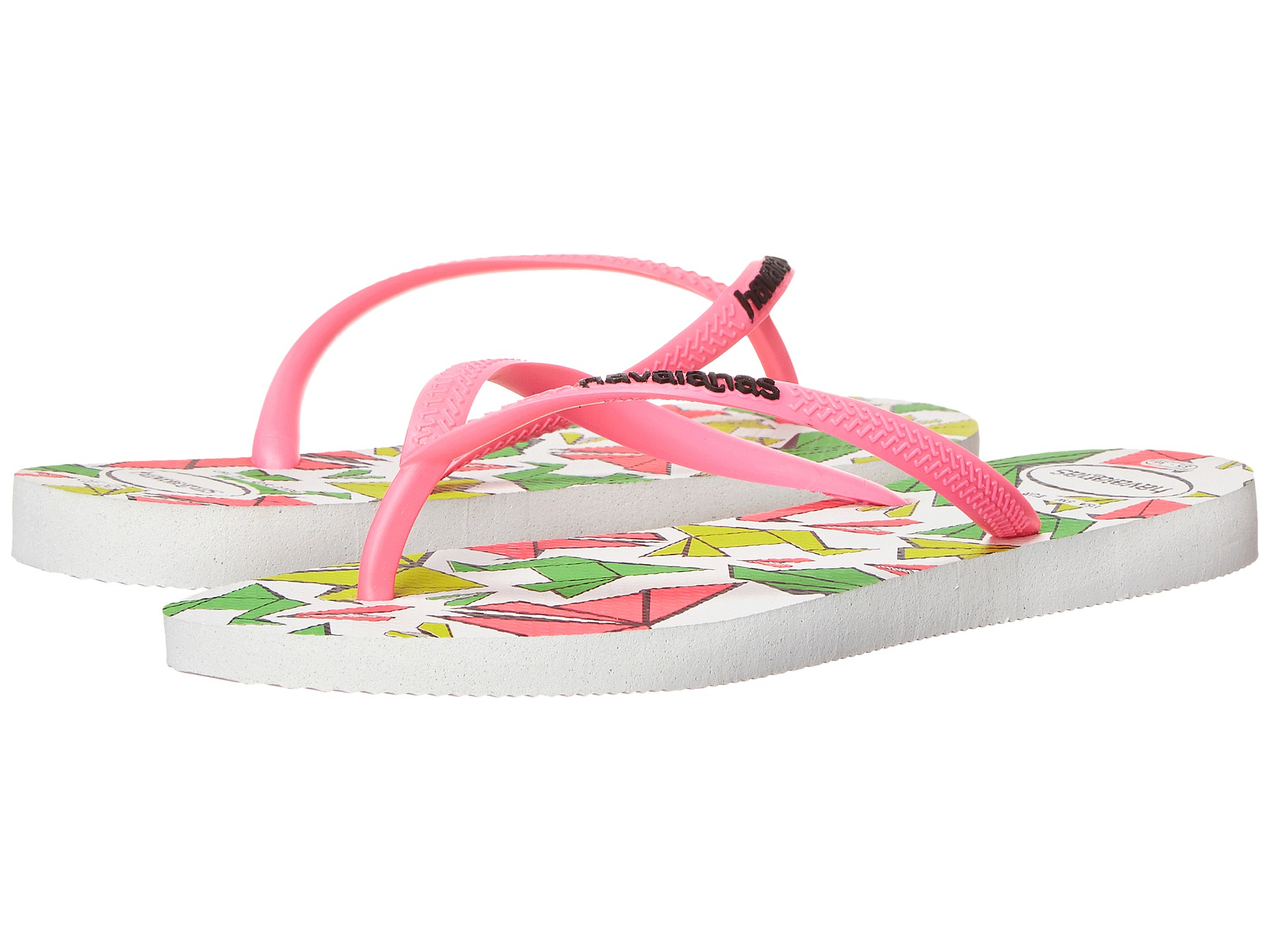 havaianas slim cool flip flops in white lyst. Black Bedroom Furniture Sets. Home Design Ideas