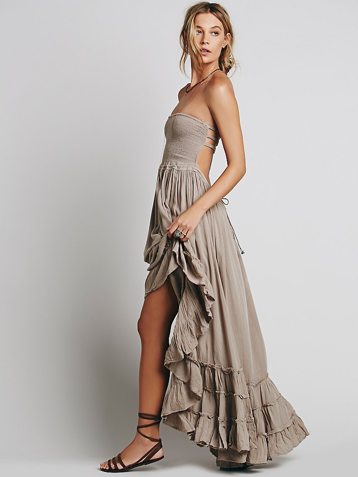 Free people Extratropical Jersey Maxi Dress in Brown
