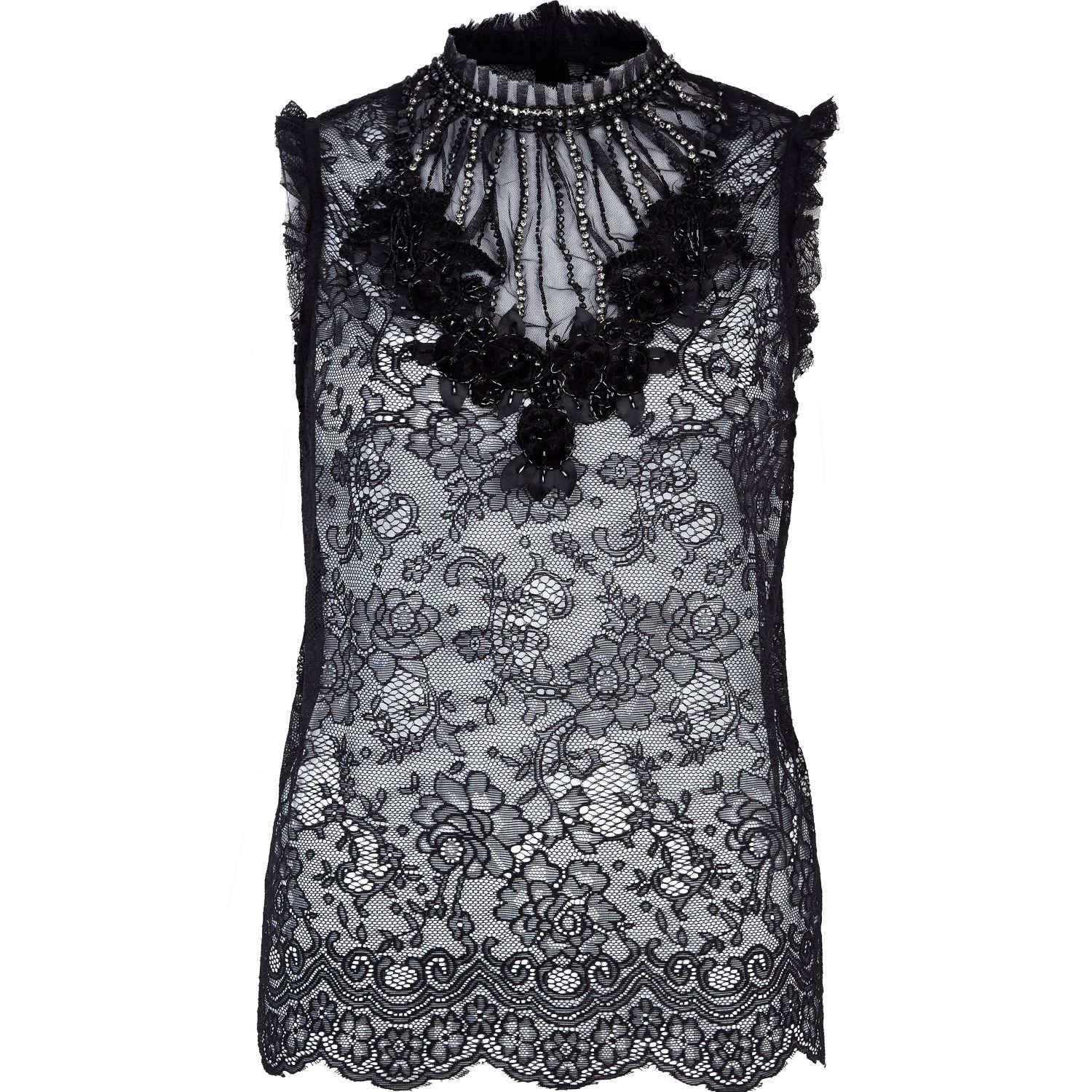 Wholesale Black Lace Tank