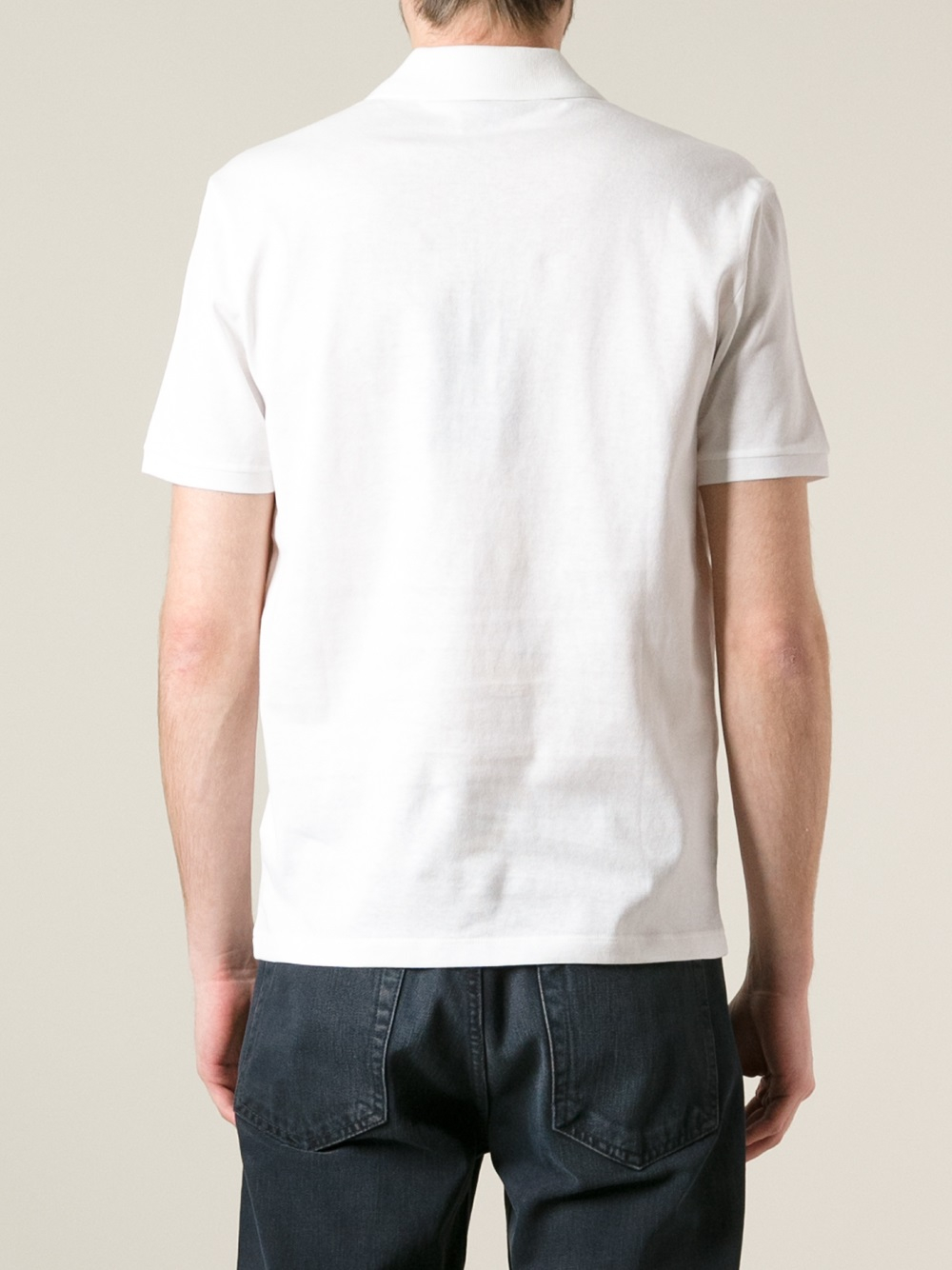 gucci short sleeve polo shirt in white for men lyst