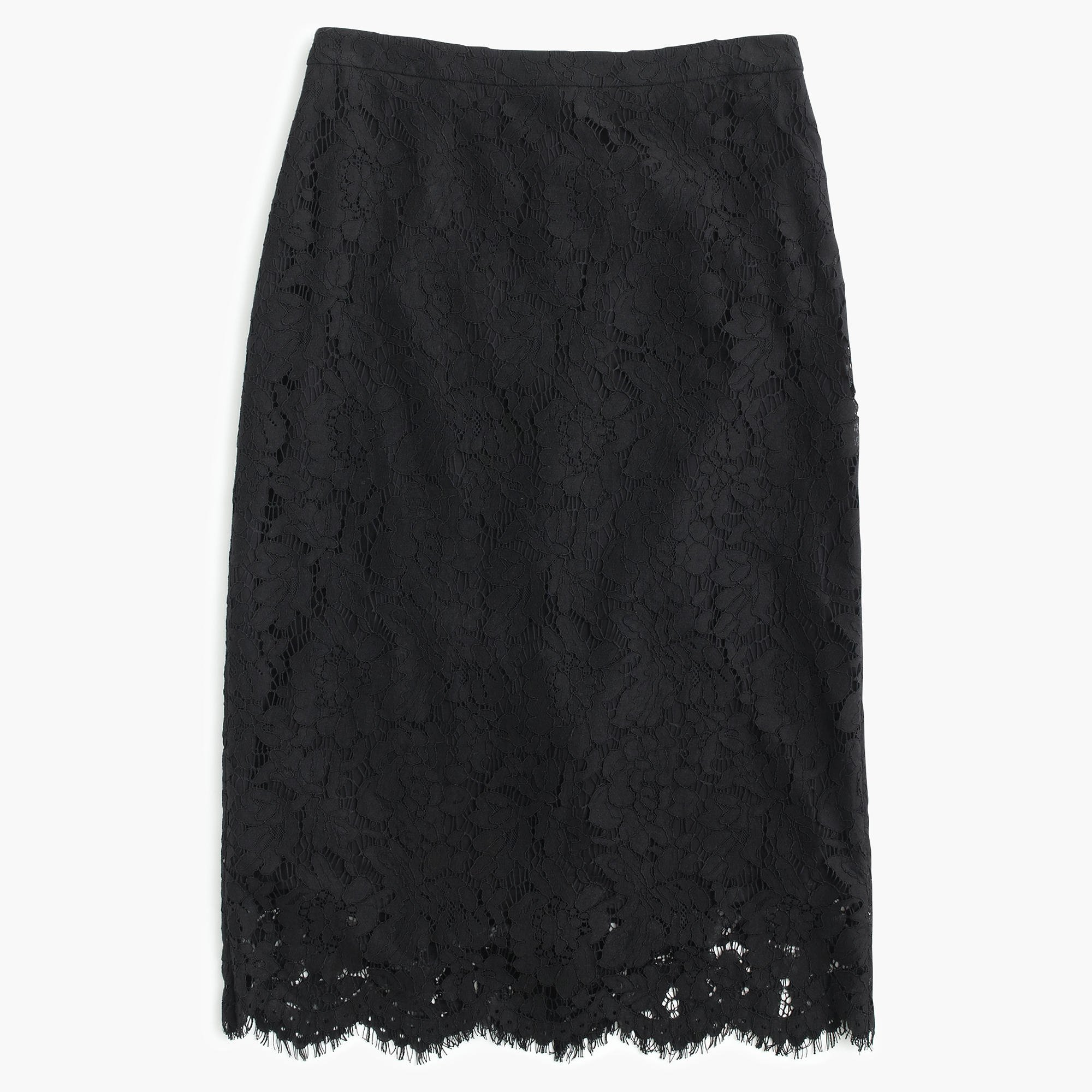 j crew collection lace pencil skirt in black lyst