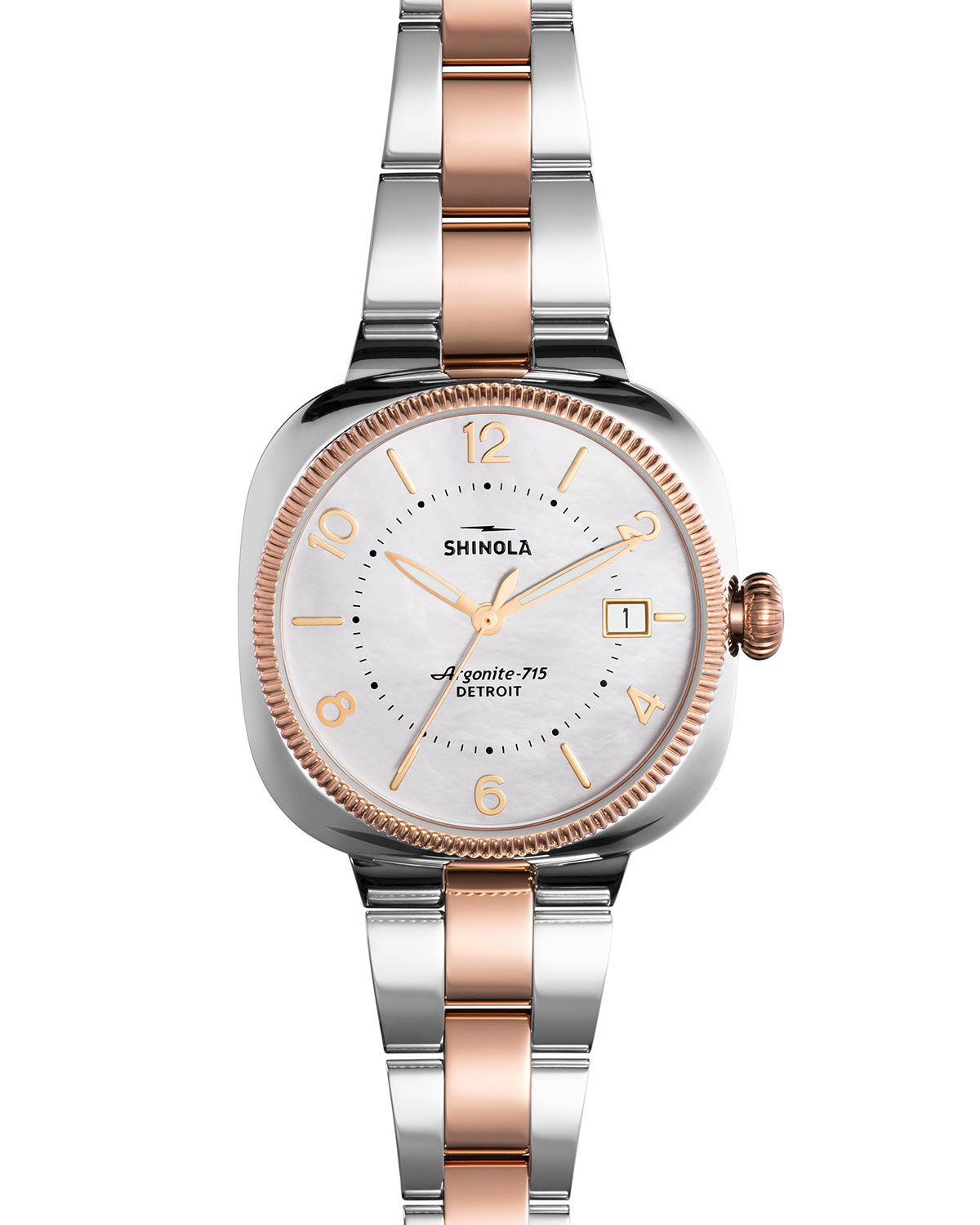Shinola 36mm Gomelsky Watch With Bracelet Strap in Pink