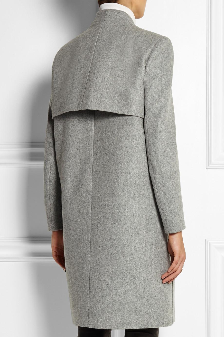 Maje Klinton Wool-Felt Coat in Gray   Lyst