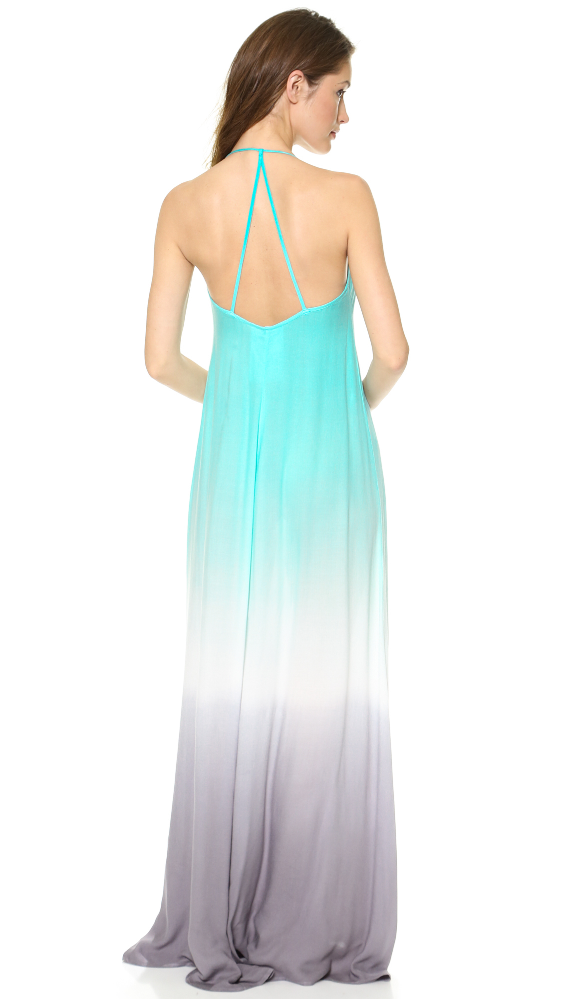 Young fabulous & broke Fortune Ombre Maxi Dress Aquagrey in Green ...