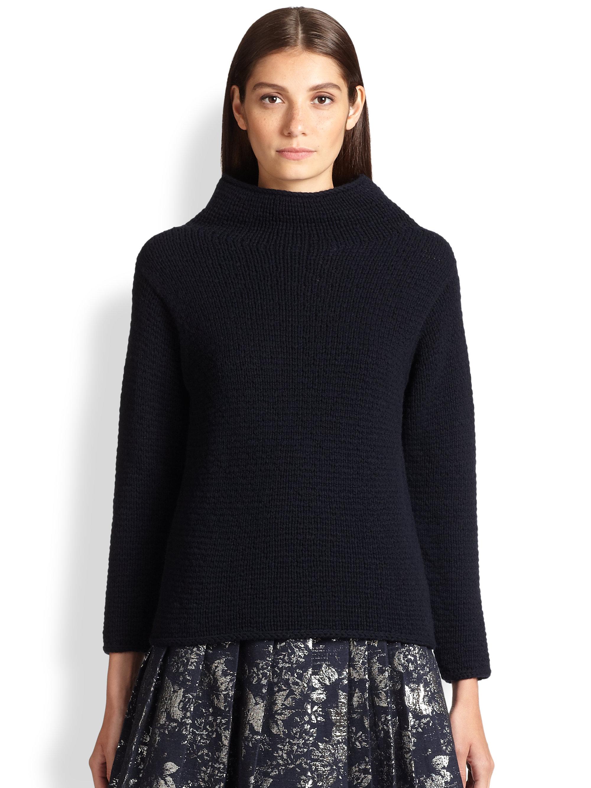 Wool Sweater Grey: Max Mara Olmo Wool Cashmere Sweater In Blue