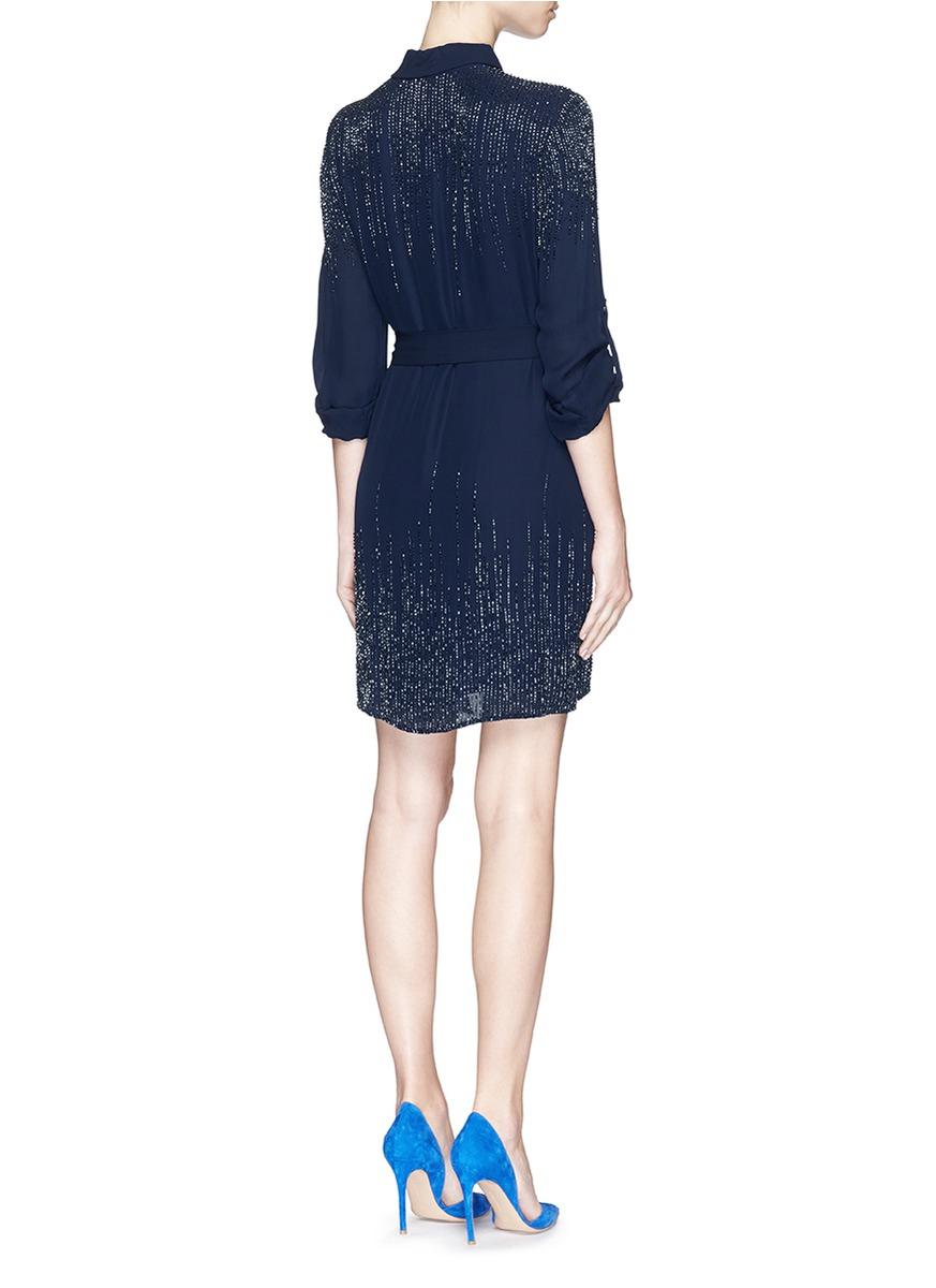 Embellished silk dress Diane Von F ifXOG9Npz