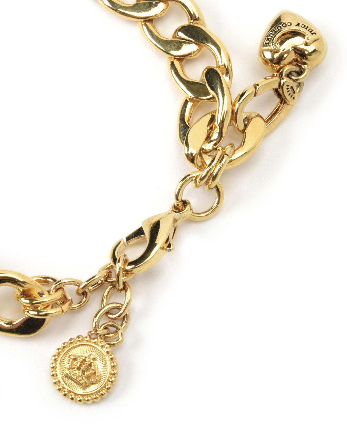 Charm Bracelets Polyvore Source · Gold Starter Charm Bracelet Juicy Couture  Bangle And Bracelets