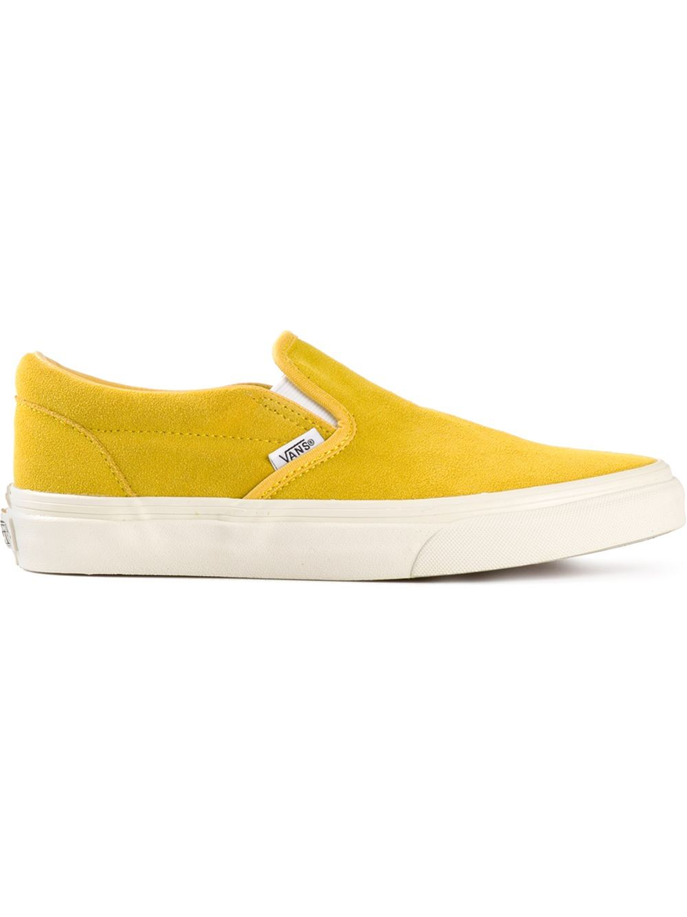 Lyst Vans Classic Slip On Trainers In Yellow
