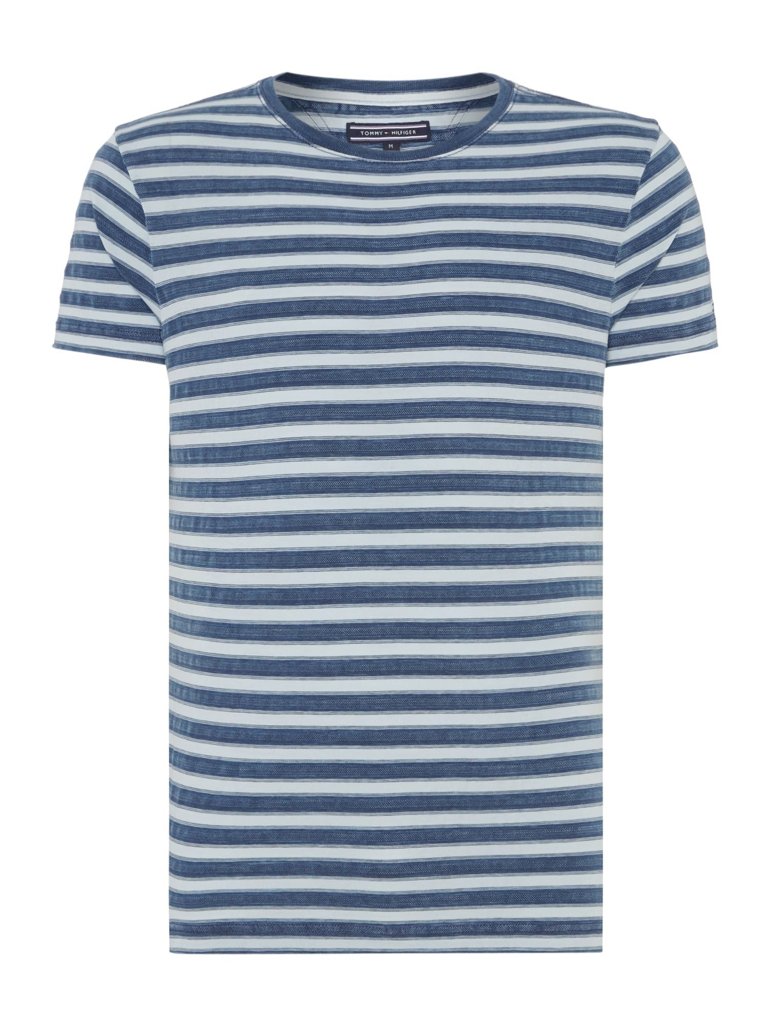 tommy hilfiger sid stripe crew neck regular fit t shirt in blue for men lyst. Black Bedroom Furniture Sets. Home Design Ideas