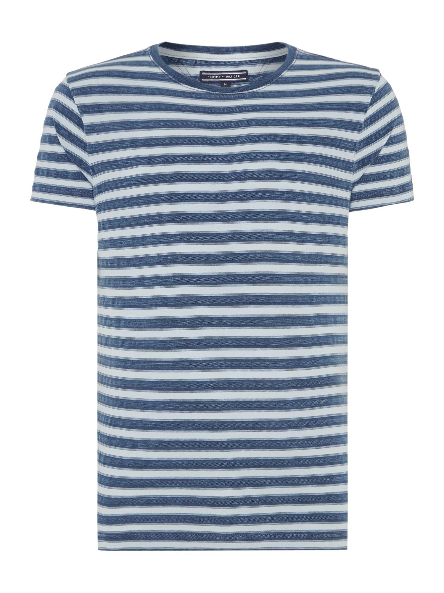 Tommy hilfiger sid stripe crew neck regular fit t shirt in for Tommy hilfiger fitzgerald striped shirt