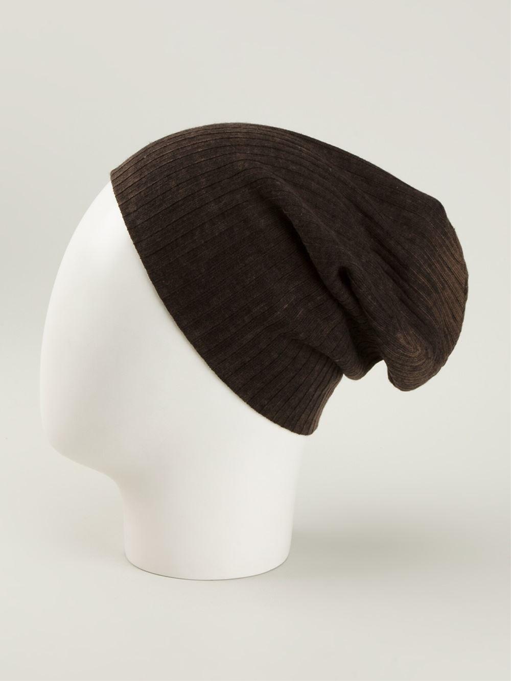 Lyst John Varvatos Ribbed Beanie Hat In Brown For Men. Lyst John Varvatos  Ombre Random Feed ... 154b5baae669