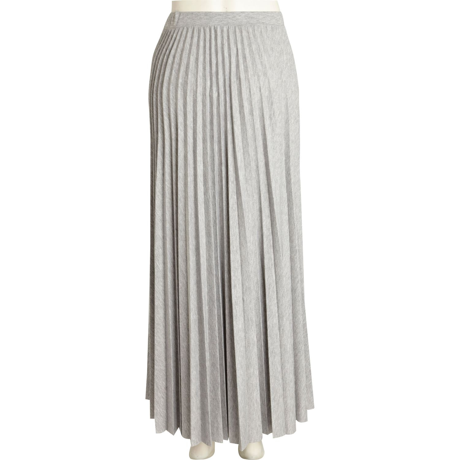River island Grey Marl Pleated Maxi Skirt in Gray | Lyst
