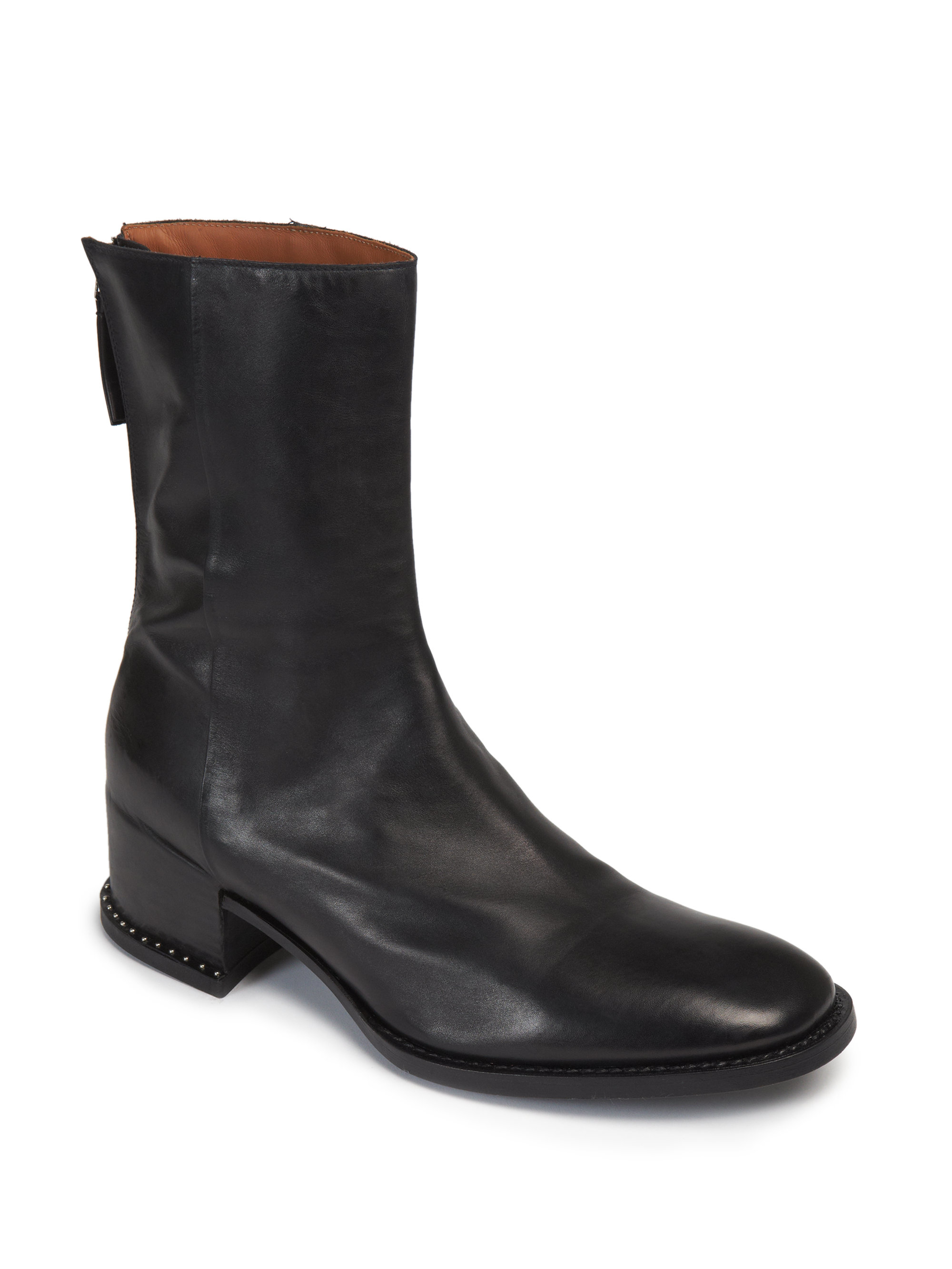 Lyst Givenchy Runway Studded Sole Leather Ankle Boots In