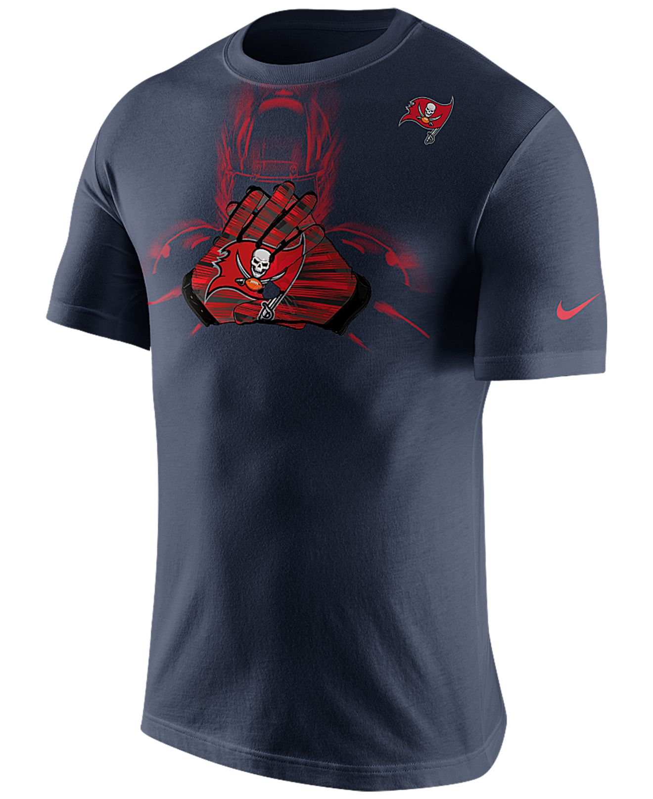 Nike men 39 s short sleeve tampa bay buccaneers glove t shirt for South bay t shirts