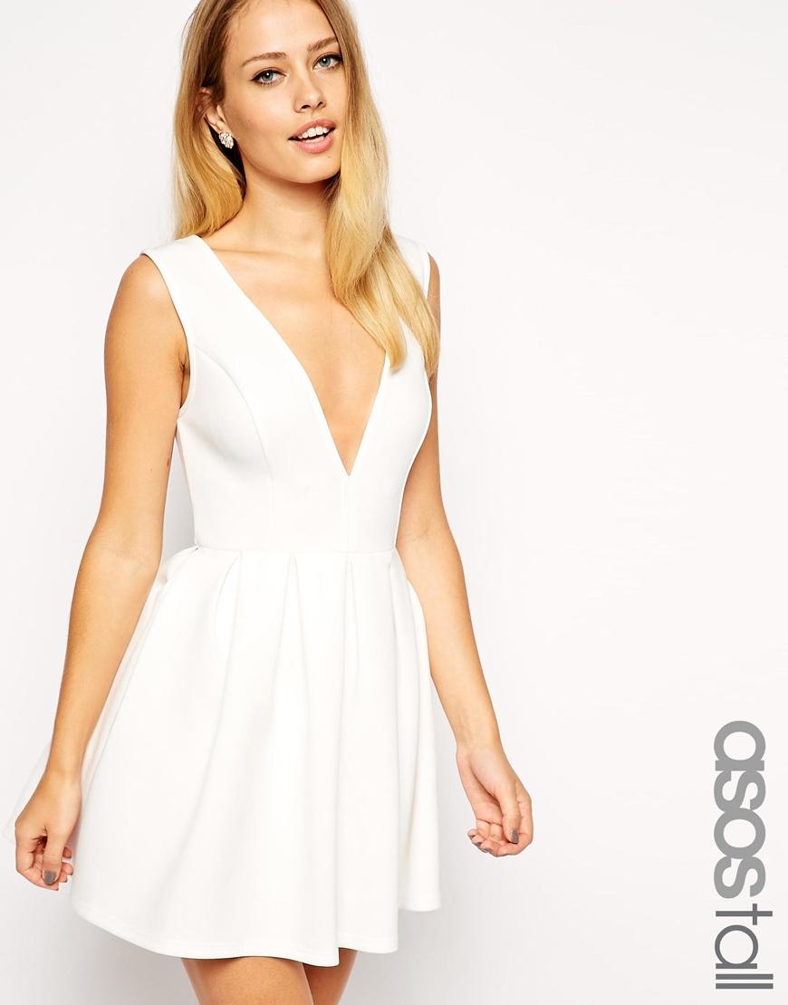 3d76206f3ebc Lyst - ASOS Debutante Mini Skater Dress in White