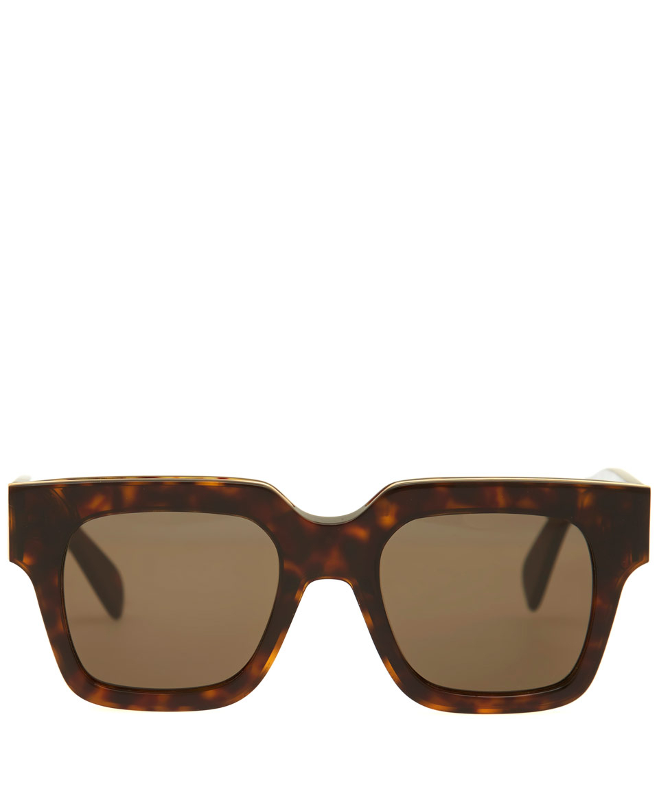 50a15adc7e89 Céline Brown Strat Screen Sunglasses in Brown - Lyst