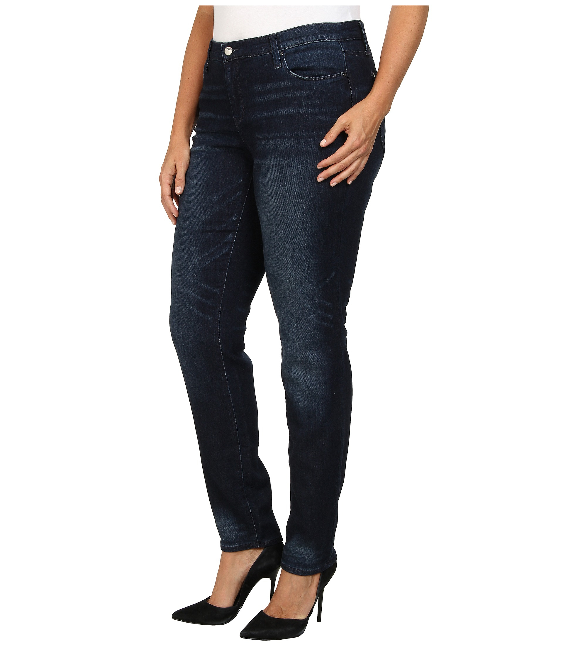 71954c0f7ccaa Lyst - DKNY Plus Size Soho Skinny Knit Denim In Kinetic Wash in Blue