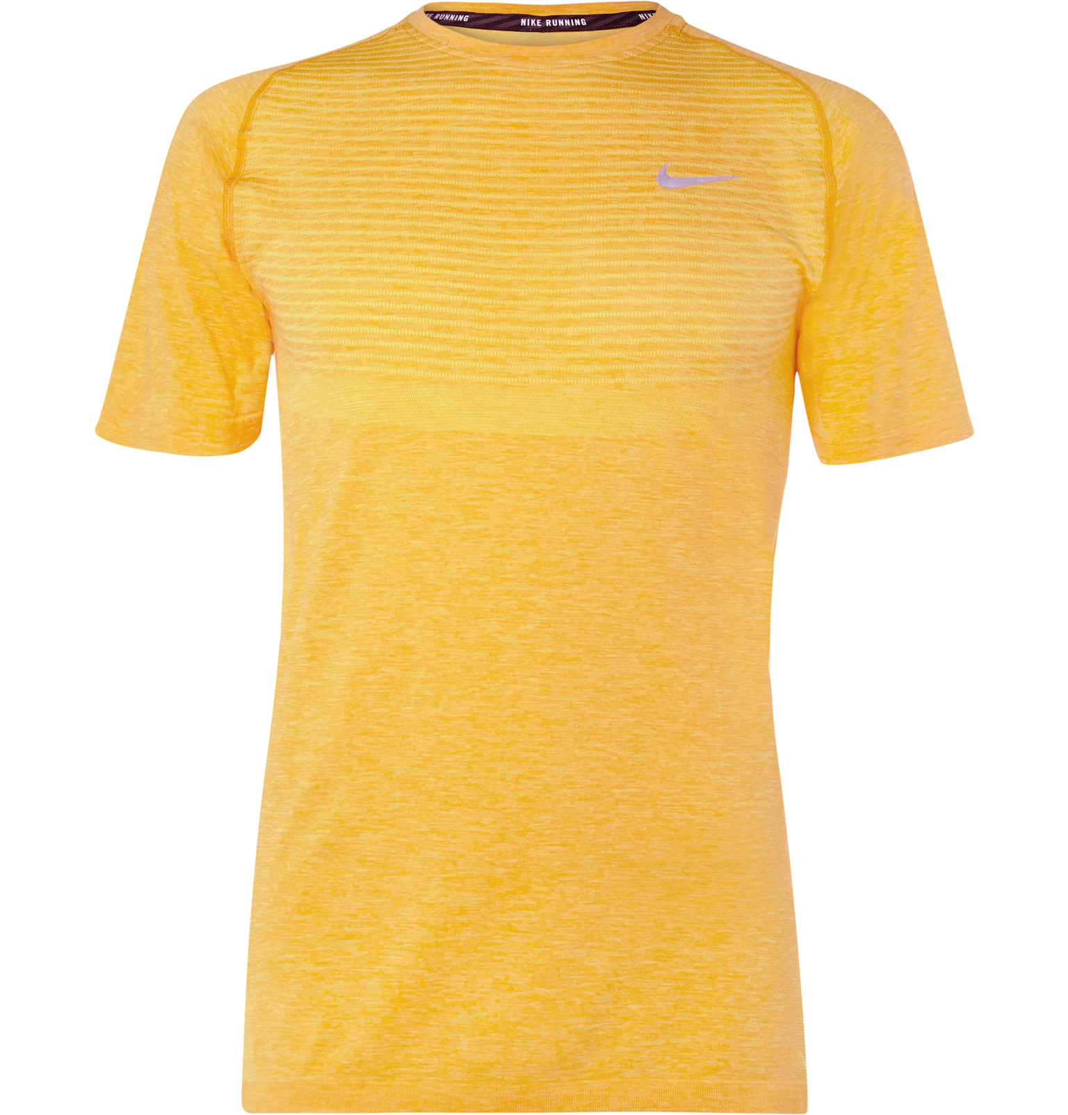 Lyst Nike Dri Fit Knit T Shirt In Yellow For Men