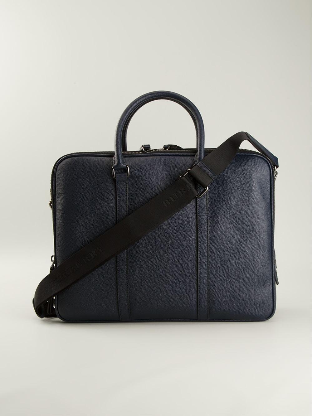 b2eeb9e22b16 Lyst - Burberry London Crossbody Briefcase in Blue for Men