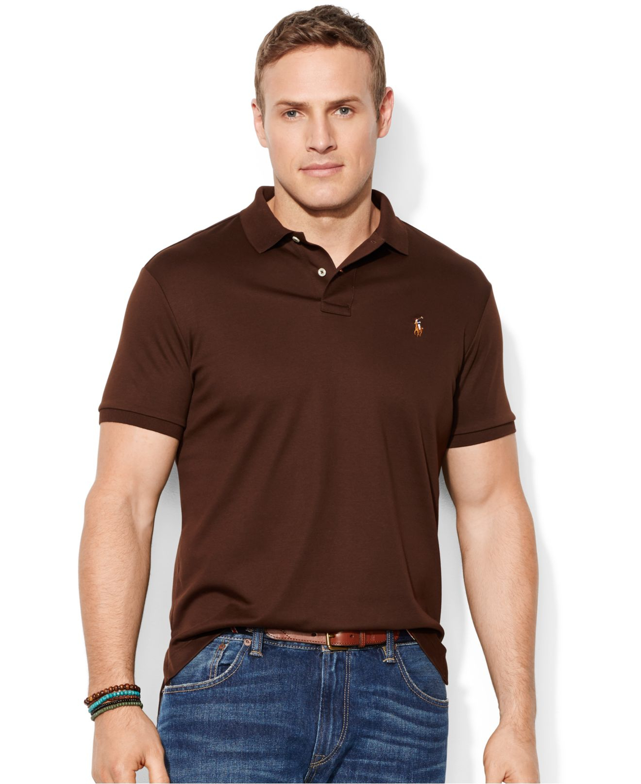 4bcf4b4b4b2c Polo Ralph Lauren Mens Pima Soft Touch Interlock Polo Shirt ...