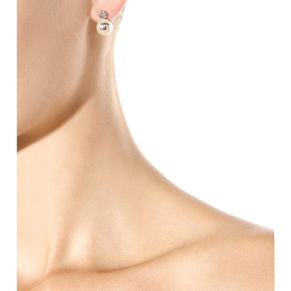 Gucci Interlocking G pearl pendant earrings 72vlysDwH