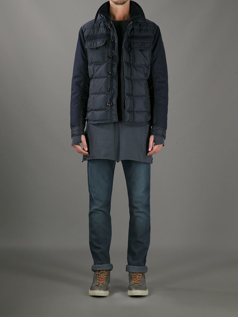 moncler montgenevre winter jackets for men gray; lyst moncler blais jacket in blue for men