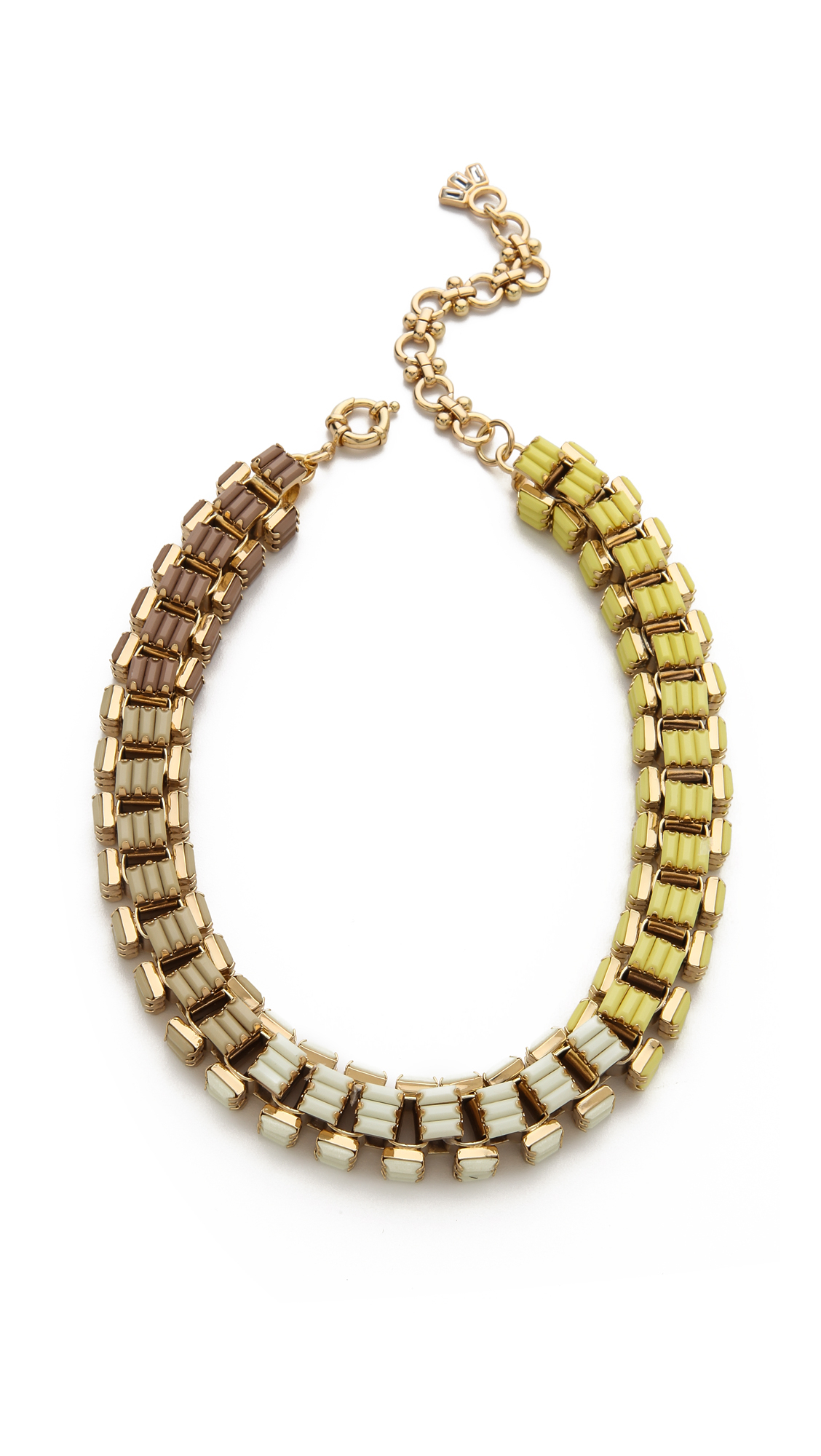 lee angel ombre baguette box link necklace in metallic lyst