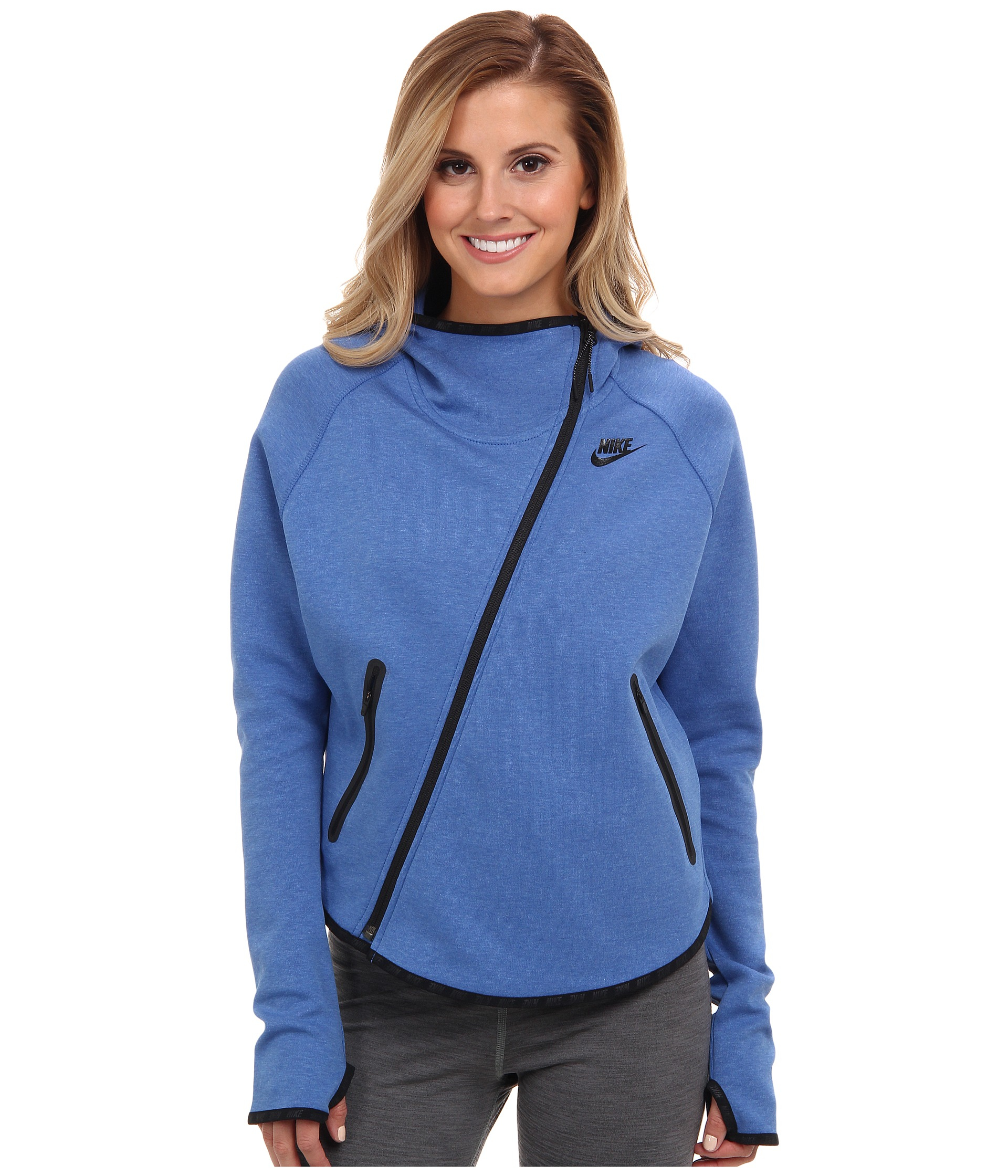 Lyst - Nike Tech Fleece Butterfly Fz Hoodie in Blue aa49b3437c