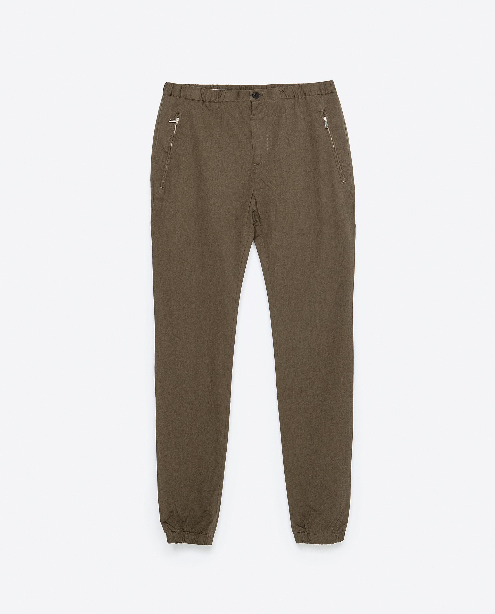 Zara Jogging Pants Jogging Pants in Green for Men | Lyst