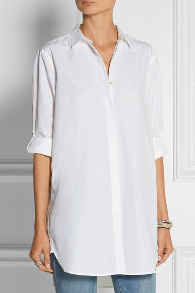 Cotton Jeans Shirts Cotton-poplin Shirt in