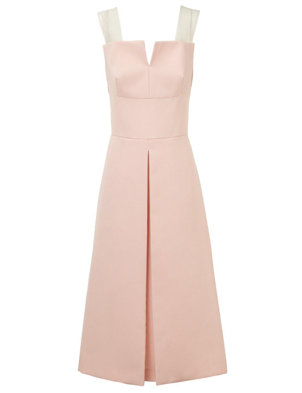 3.1 phillip lim Powder Pink Wool Martini Dress in Pink - Lyst