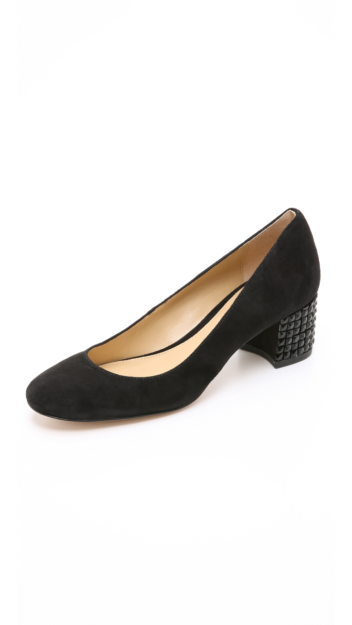 Michael michael kors Arabella Suede Kitten Heel Pumps in Black  Lyst