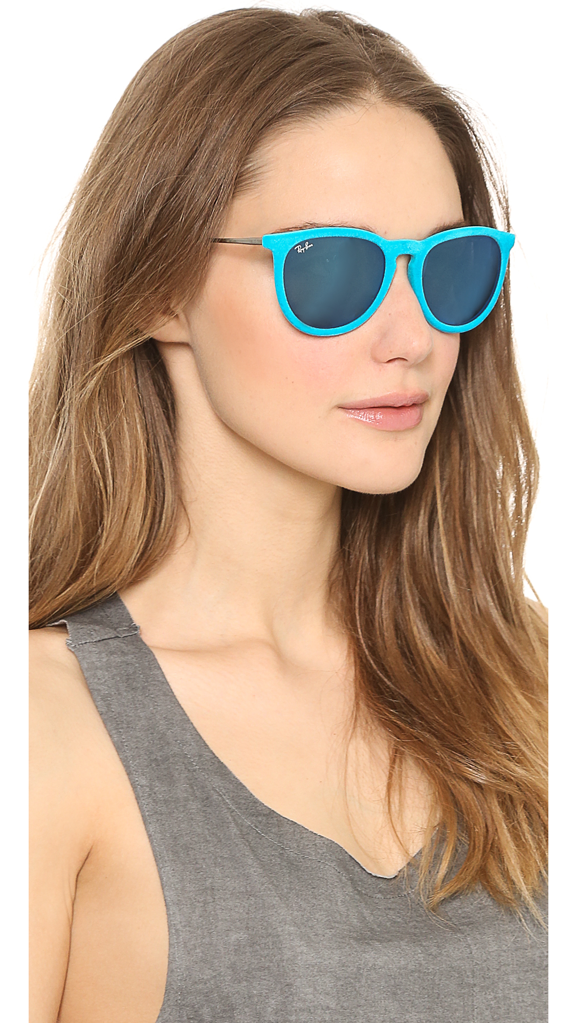 b544dcec90 Lyst - Ray-Ban Erika Velvet Sunglasses - Violet in Blue