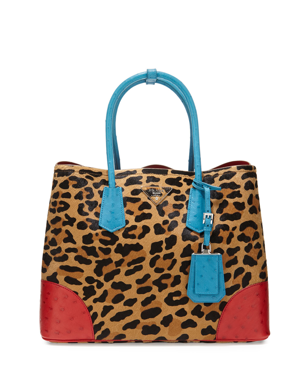 prada ostrich handle bag