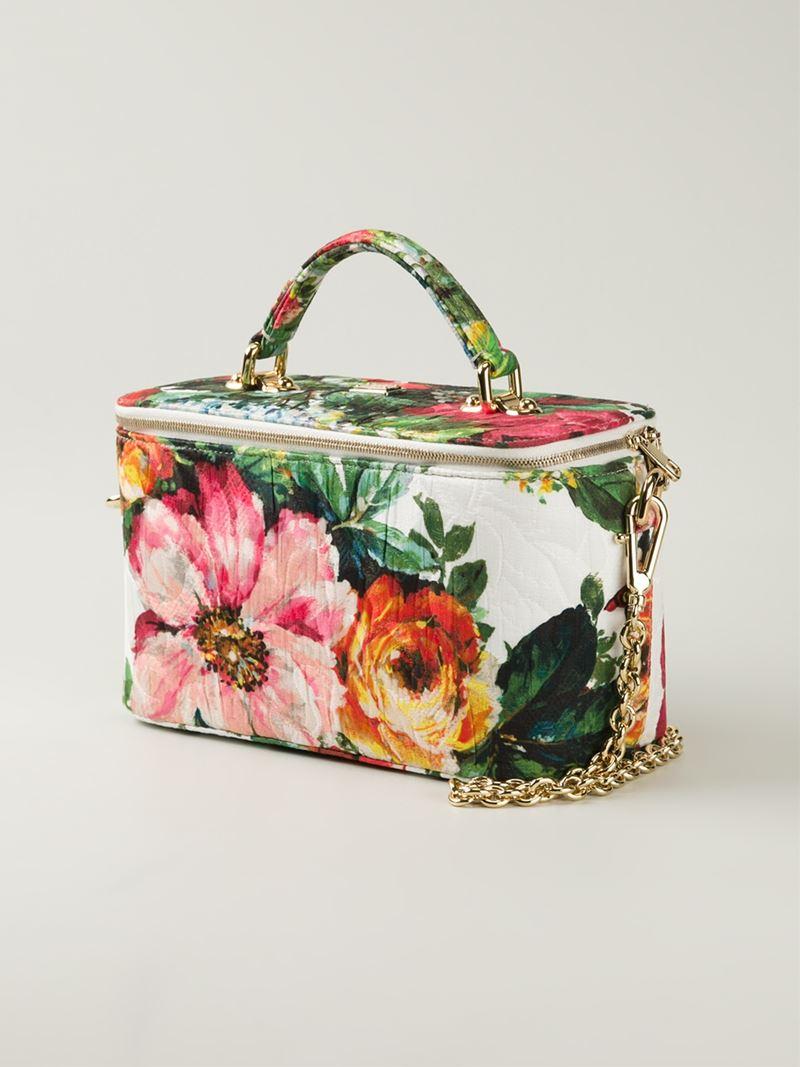Lyst Dolce Amp Gabbana Floral Print Cotton Makeup Bag