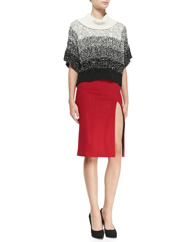 tani front slit knit pencil skirt lyst