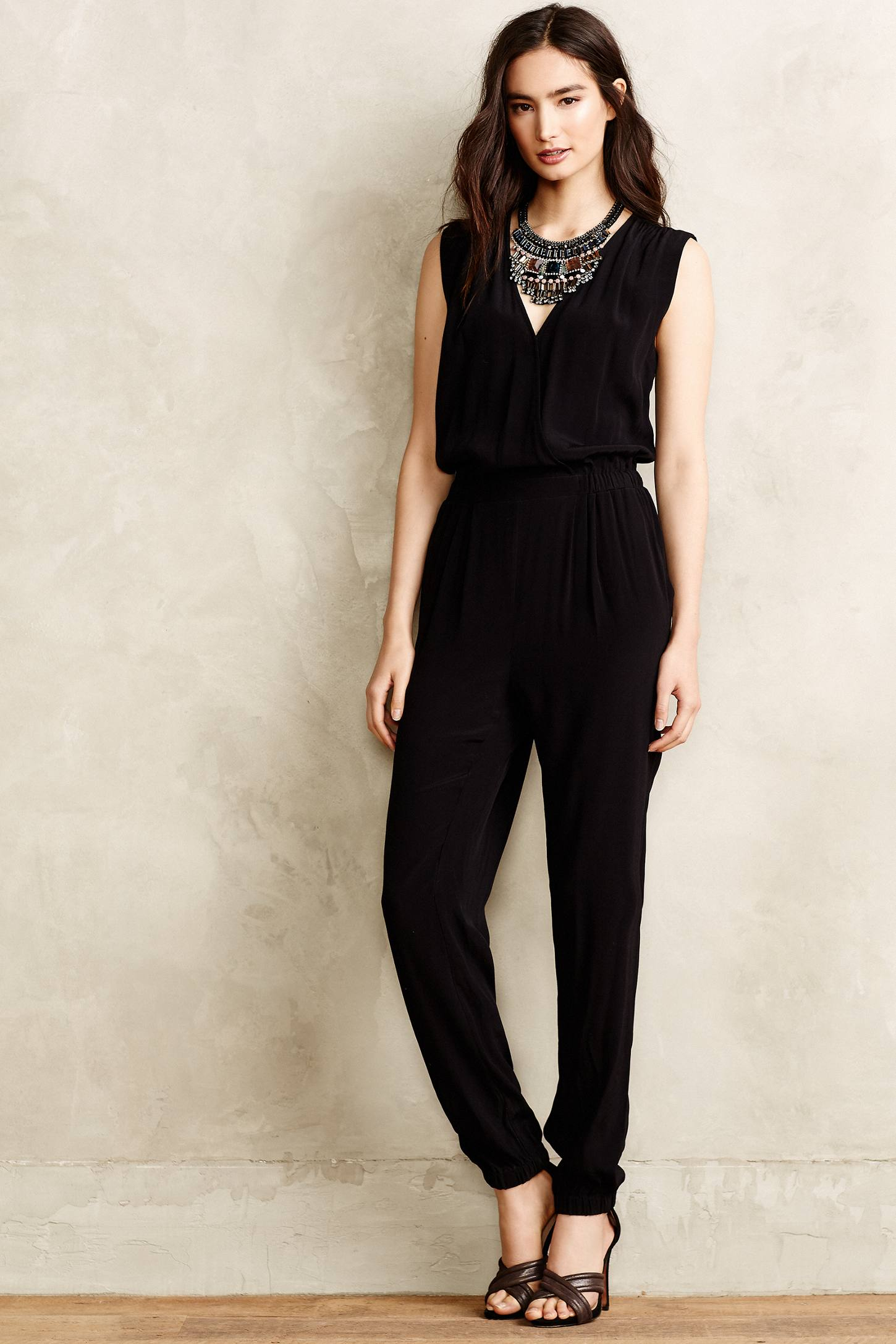 Cynthia Vincent Michelia Petite Jumpsuit In Black Lyst