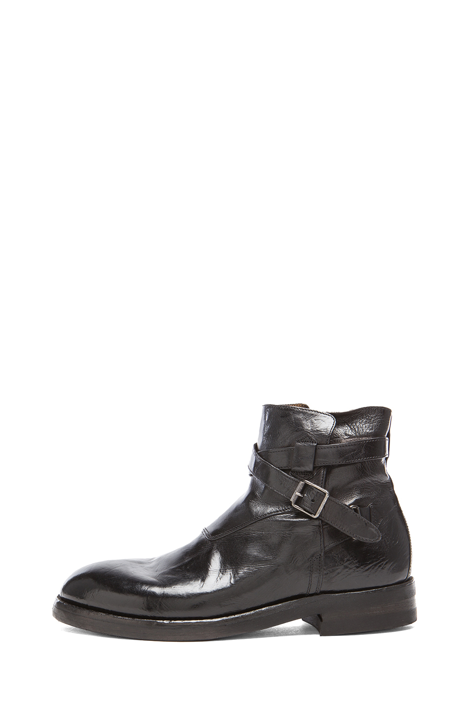 officine creative zipper leather boots in black for lyst