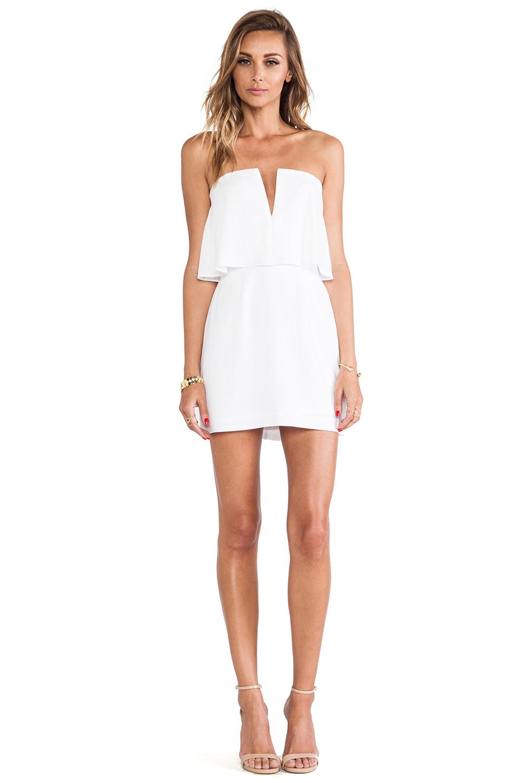 Bcbgmaxazria Kate Strapless Mini Dress In White Lyst