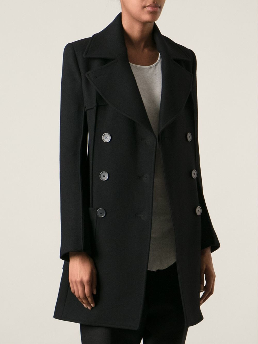 double-breasted coat - Black Ann Demeulemeester Discounts Clearance Best Seller Best Deals Cheap Pre Order C4ptuRA