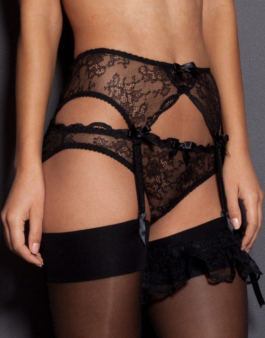 Lyst - Agent Provocateur Love Suspender in Black f20822d43