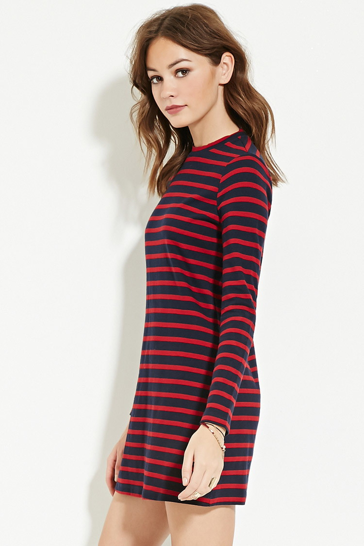 Forever 21 Striped Sweater Dress | Lyst
