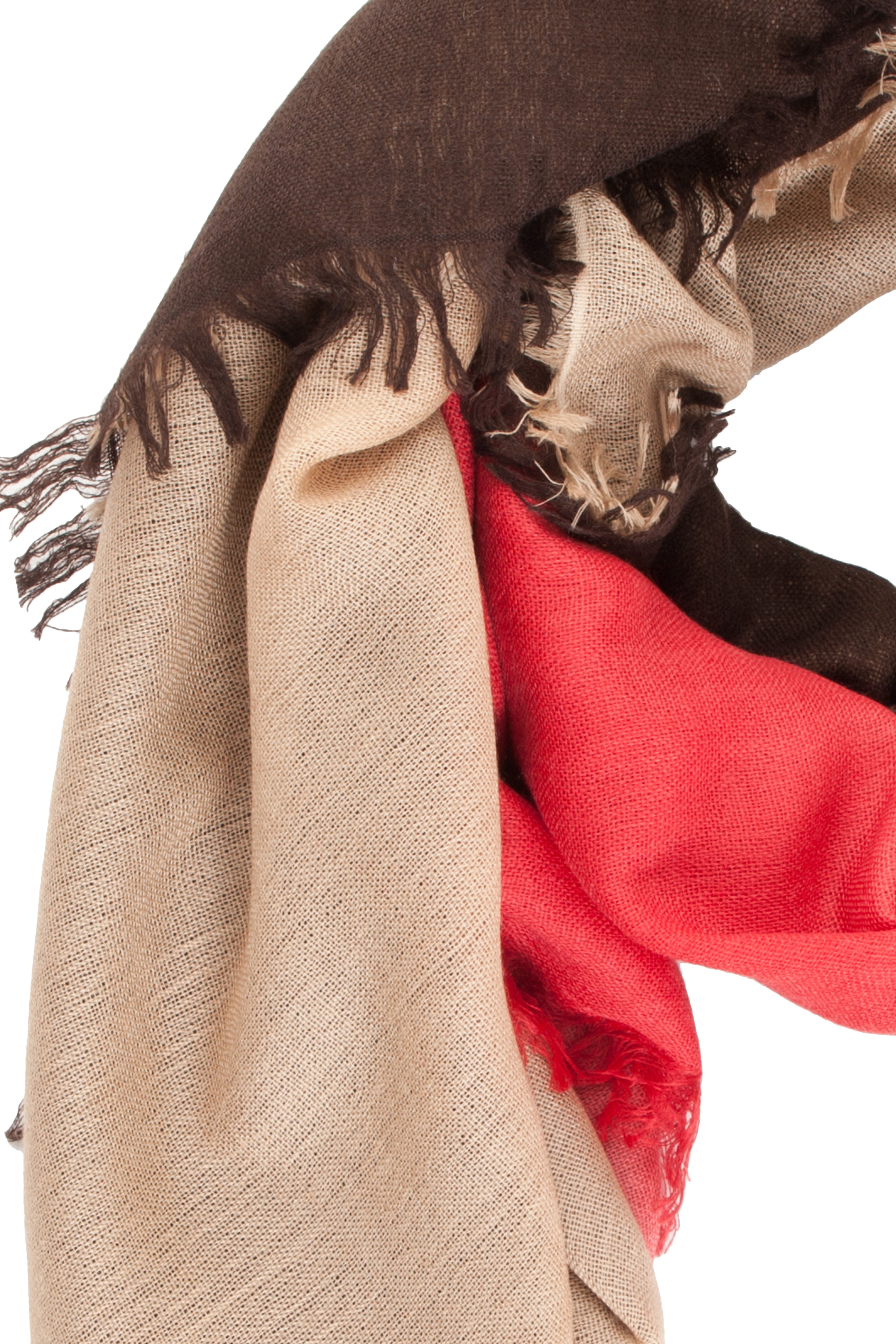 bajra ombre tricolour scarf in lyst