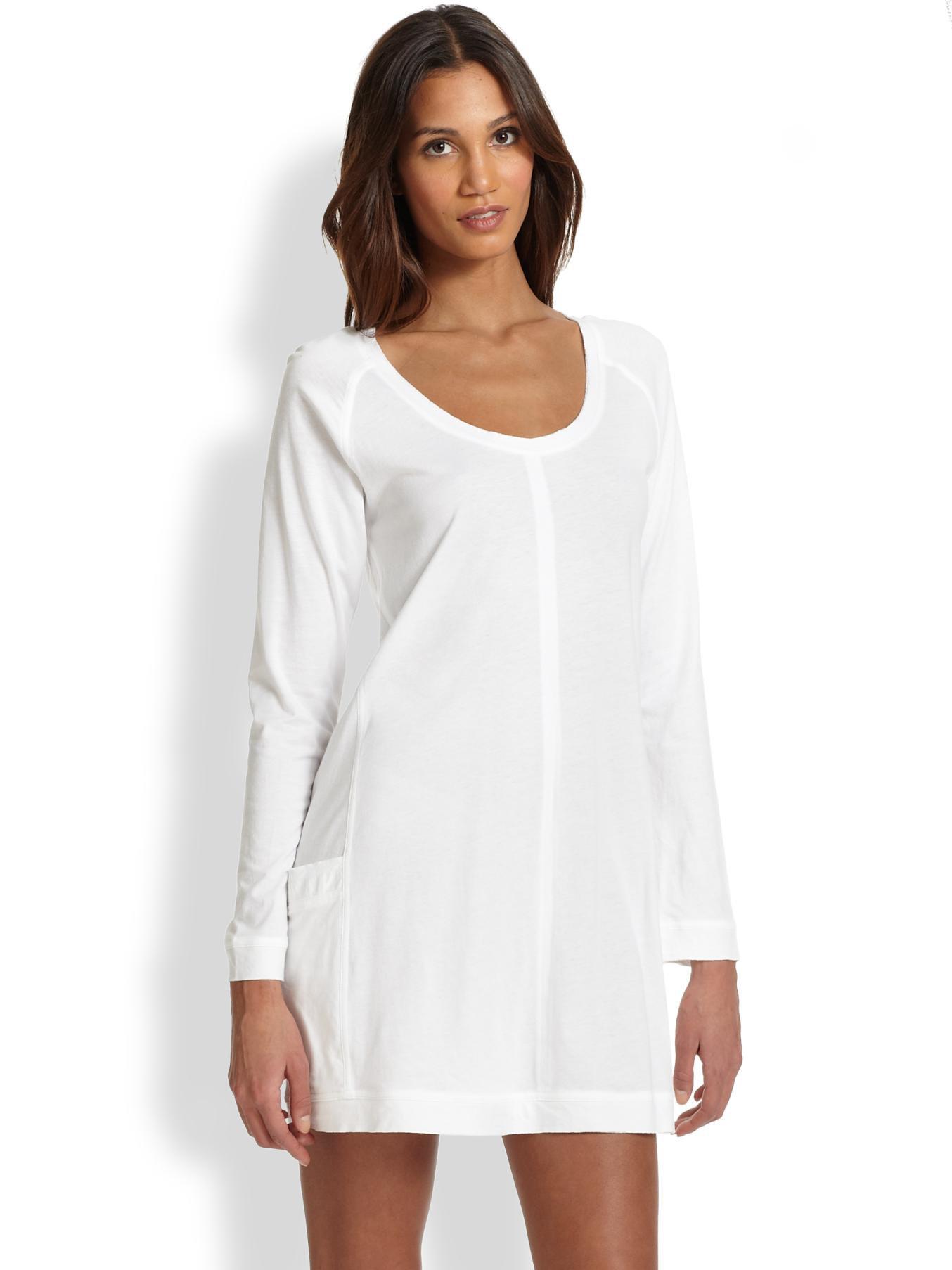 Donna karan new york sleepshirt in white lyst for Donna karan new york