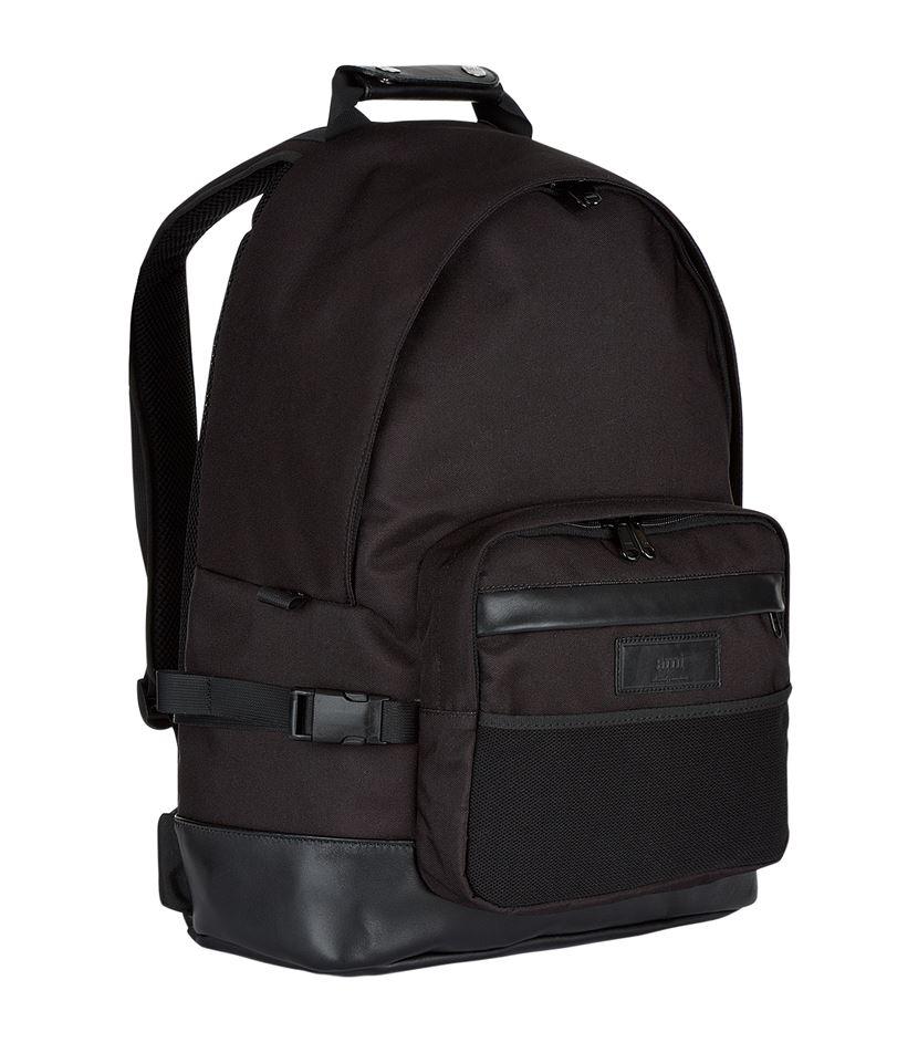 AMI Nylon Backpack in Black for Men - Lyst c18a89438e6d7